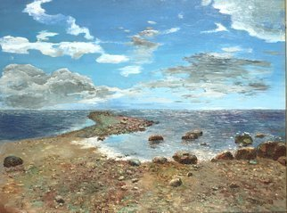 Vladimir Volosov: 'baltic shore', 2006 Oil Painting, Marine. Artist Description: This is an original unique textured oil painting on stretched canvas. Original Artist Style aEUR
