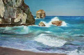 Vladimir Volosov: 'bermuda shores', 2018 Oil Painting, Marine. Artist Description: This is an original unique textured oil painting on museum stretched canvas. Original Artist Style aEUR