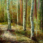 birches forest By Vladimir Volosov