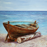 boat on the shore By Vladimir Volosov