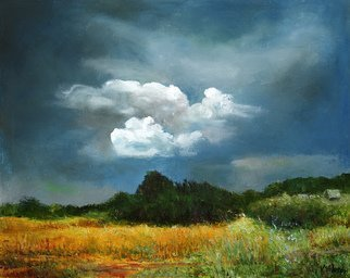 Vladimir Volosov Artwork breath ofautumn, 2016 Oil Painting, Sky
