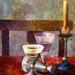 candle on the table By Vladimir Volosov