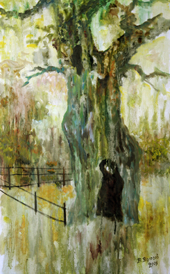 Vladimir Volosov Artwork crying oak, 2009 Oil Painting, Impressionism