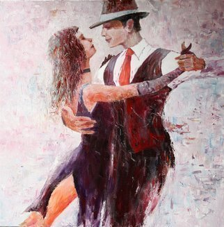 Vladimir Volosov: 'dance', 2014 Oil Painting, Love. Artist Description: This is an original unique textured oil painting on stretched canvas. Original Artist Style aEUR