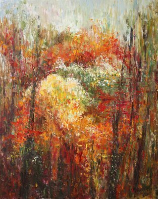 Vladimir Volosov: 'fall colors', 2017 Oil Painting, Abstract Landscape. Artist Description: This is an original unique textured oil painting on stretched canvas. The painting was created using professional quality oil paints. Original Artist Style aEUR