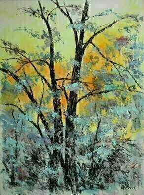 Vladimir Volosov: 'forest etude', 2020 Oil Painting, Landscape. Finest quality high grade professional oil paints. Original artwork is an unique textured oil painting on  Nanvas stretched on a wooden underframe.  Palette knife. Original Artist Style aEUR