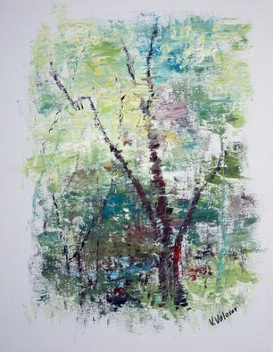 Vladimir Volosov: 'forest sketch', 2018 Oil Painting, Abstract Landscape. Artist Description: This is an original unique textured oil painting on stretched canvas. The painting was created using professional quality oil paints. Original Artist Style aEUR