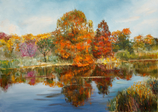 Vladimir Volosov Artwork golden autumn, 2014 Oil Painting, Impressionism