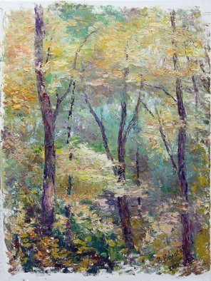 Vladimir Volosov: 'in dense forest', 2010 Oil Painting, Impressionism. Artist Description: This is an original unique textured oil painting on stretched canvas. Original Artist Style aEUR