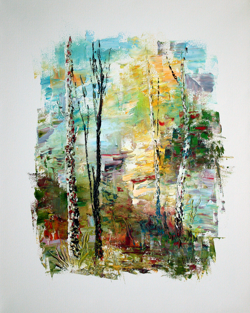 Vladimir Volosov  'In Summer Forest', created in 2019, Original Calligraphy.