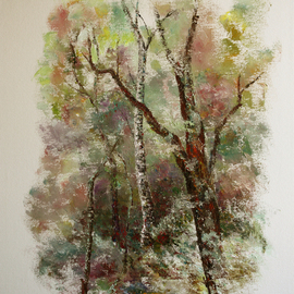 Vladimir Volosov: 'in thicket', 2011 Oil Painting, Landscape. Artist Description: This is an original unique textured oil painting on stretched canvas. Original Artist Style aEUR