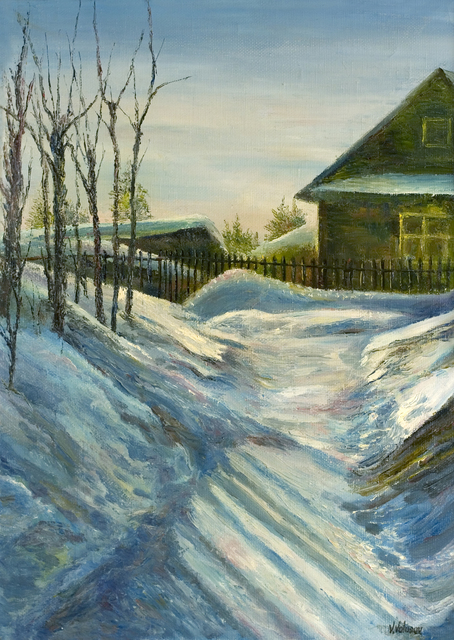 Vladimir Volosov: january, 1997 Oil Painting