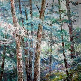 landscape in blue tones