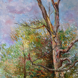 landscape with old tree By Vladimir Volosov