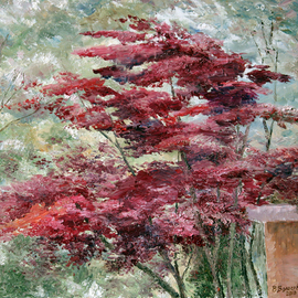 landscape with red tree