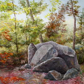 landscape with stones By Vladimir Volosov