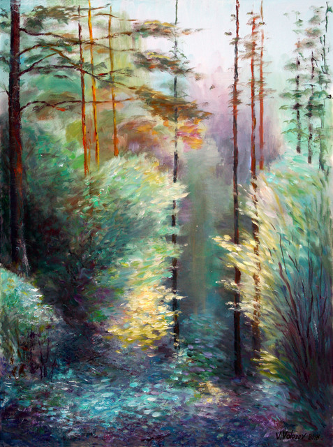 Vladimir Volosov Light And Shadow In The Forest 2018