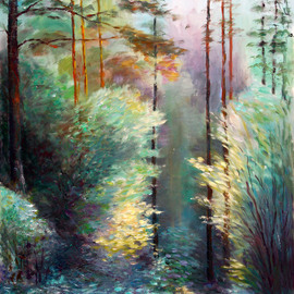 Light And Shadow In The Forest, Vladimir Volosov
