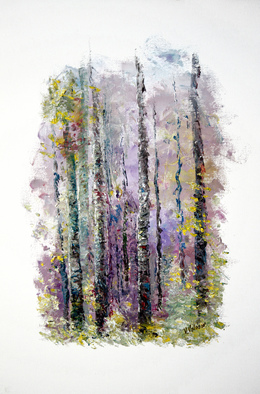 Vladimir Volosov Artwork lilac forest, 2015 Oil Painting, Impressionism