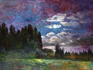 Vladimir Volosov Artwork moon night, 1995 Oil Painting, Impressionism