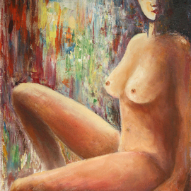 nude girl with the hat By Vladimir Volosov