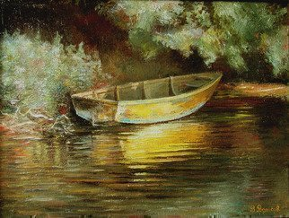 Vladimir Volosov: 'old boat', 1994 Oil Painting, Impressionism. Artist Description: Authors Style - lyrical realism . Oil on canvas. ...
