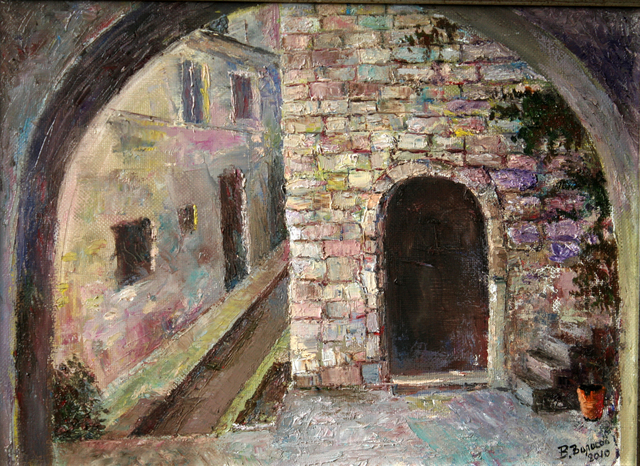 Vladimir Volosov: old town, 2010 Oil Painting
