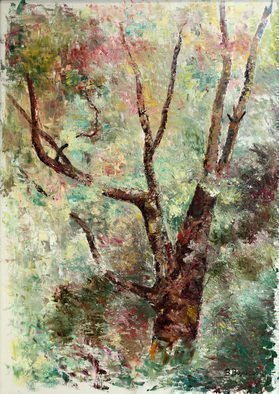 Vladimir Volosov: 'old tree', 2008 Oil Painting, Landscape. Artist Description: This is an original unique textured oil painting on stretched canvas. The painting was created using professional quality oil paints. Original Artist Style aEUR