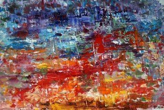 Vladimir Volosov: 'red and blue cjmposition', 2015 Oil Painting, Abstract. Artist Description: This is an original unique textured oil painting on stretched canvas. Original Artist Style abstract impressionismPainting sides are 1. 5aEUR thick stretched canvas with white edges requiring no frame.The work was signed in the back and front by the artist.Ready to hangMy original paintings ...