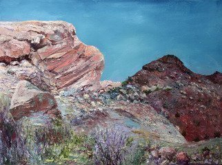 Vladimir Volosov: 'red rocks in colorado', 2017 Oil Painting, Impressionism. Artist Description: This is an original unique textured oil painting on stretched canvas. Original Artist Style aEUR
