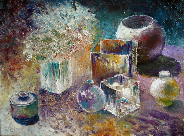 Vladimir Volosov still life with the bottles 2011