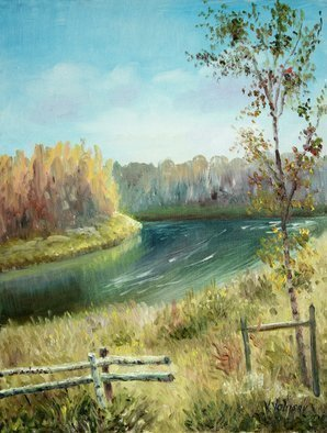 Vladimir Volosov: 'summer landscape', 2019 Oil Painting, Landscape. Artist Description: This is an original unique textured oil painting on stretched canvas. The painting was created using professional quality oil paints. Original Artist Style aEUR