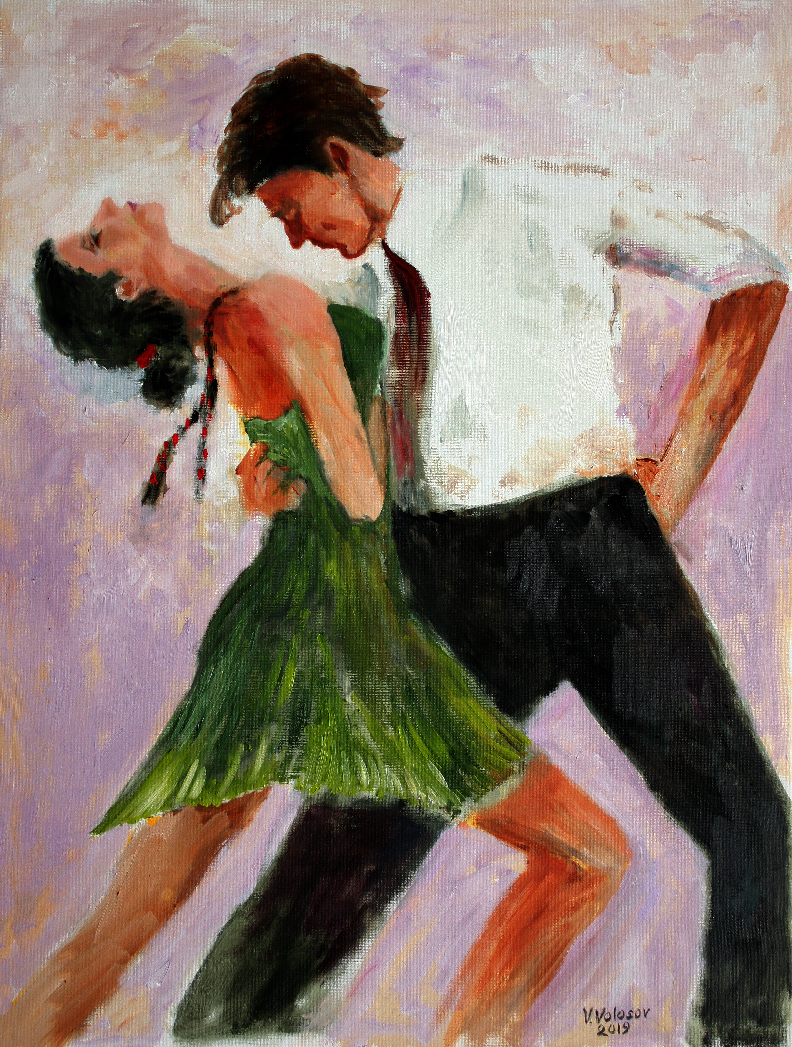 The Dance Oil Painting By Vladimir Volosov Absolutearts Com