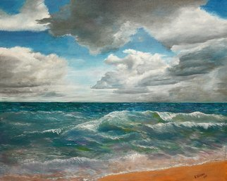 Vladimir Volosov: 'the fickle ocean', 2014 Oil Painting, Marine. Artist Description: This is an original unique textured oil painting on stretched canvas. Original Artist Style aEUR