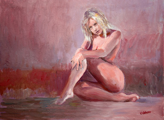Vladimir Volosov Artwork the girl in art studio, 2017 Oil Painting, Nudes