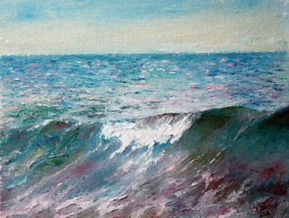 Vladimir Volosov: 'the wave', 2012 Oil Painting, Marine. Artist Description: This is an original unique textured oil painting on stretched canvas. Original Artist Style aEUR