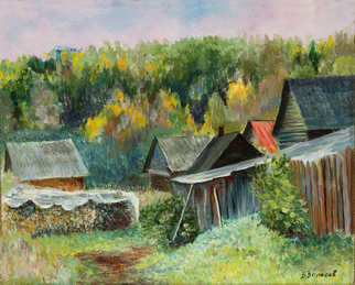 Vladimir Volosov Artwork there where time stopped, 2008 Oil Painting, Landscape