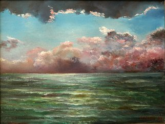 Vladimir Volosov: 'thunderstorm over the see', 1999 Oil Painting, Marine. Artist Description: Authors Original Style...