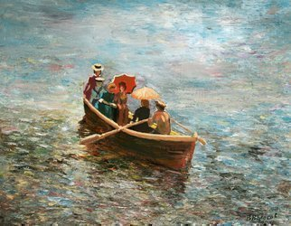 Vladimir Volosov: 'weekend stroll', 2010 Oil Painting, Marine. Artist Description: This is an original unique textured oil painting on stretched canvas. The painting was created using professional quality oil paints. Original Artist Style aEUR