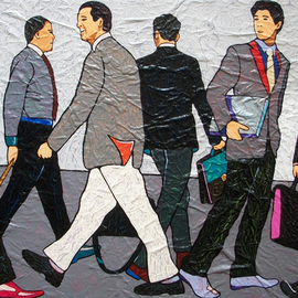 Vlado Vesselinov: 'bright horizons the puppeteers', 2015 Oil Painting, Business. Artist Description: The work is inspired by a modern urban man, a businessman who works for his bright horizons.  The work is painted using original and original technology and this makes it uniquePainted with high quality French oil paints and high quality Italian acrylic paints, on a high quality Italian ...