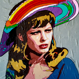 Vlado Vesselinov: 'claudia cardinale', 2018 Oil Painting, Famous People. Artist Description: This work is inspired by the great Italian actress and sex symbol Claudia Cardinale.The work was realized with author s technique with high quality French oil paints and high quality Italian acrylic paints.  The work has a certificate of authenticity.  Rich in many colors and great relief ...