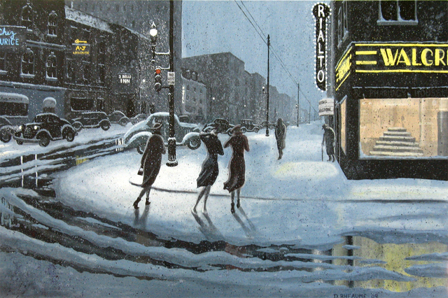 Dave Rheaume  'Caught By The Storm', created in 2009, Original Painting Acrylic.