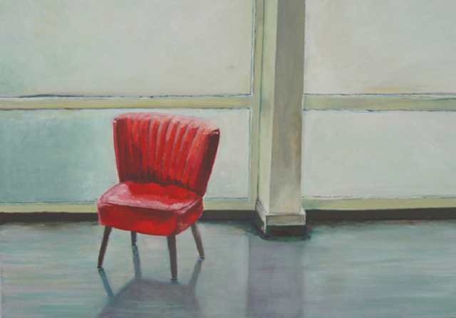 Artist Charlotte Von Elm. 'Chair' Artwork Image, Created in 2006, Original Painting Oil. #art #artist