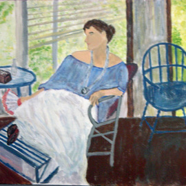 Vincent Sferrino: 'Afternoon Respite', 2013 Acrylic Painting, Ethereal. Artist Description:  Resting from the days activity. Acrylic on Canvas     ...