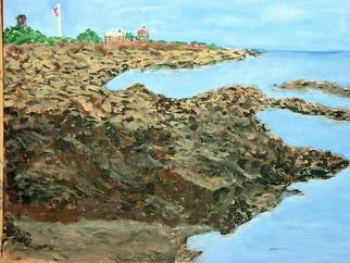 Artist: Vincent Sferrino - Title: Kennebunkport Shoreline - Medium: Acrylic Painting - Year: 2006
