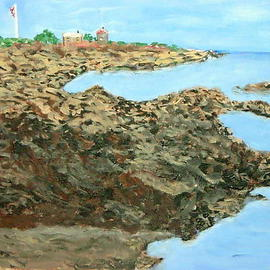 Vincent Sferrino Artwork Kennebunkport Shoreline, 2006 Acrylic Painting, Landscape