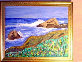 Artist: Vincent Sferrino - Title: Rocky Coastline - Medium: Acrylic Painting - Year: 2004