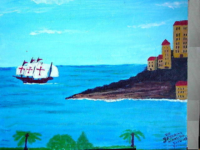 Vincent Sferrino  'Spanish Galleon', created in 2003, Original Painting Acrylic.