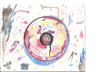 Artist: Randall Fox - Title: Recycled Memory Monotypes Prototype - Medium: Watercolor - Year: 2008