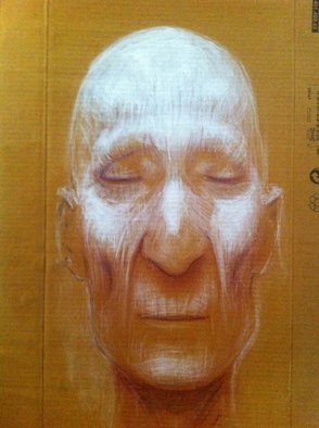 Georg Wachberg: 'saint', 2013 Oil Painting, Meditation.  face portrait love saint meditation spirituality god ...